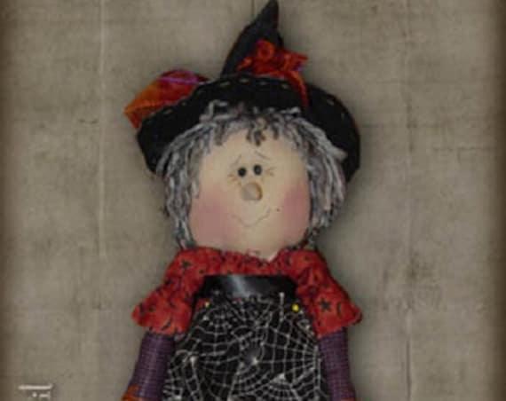 "Pattern: Wendy - 16"" Witch  Rag Doll"
