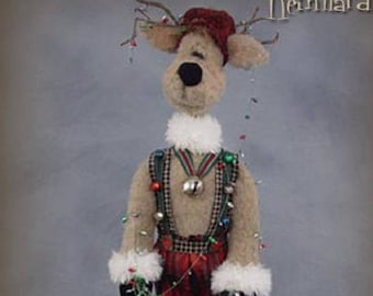 "Doll Kit: ""Reinhardt"" - 26"" Reindeer -  for doll pattern by Sparkles n Spirit"