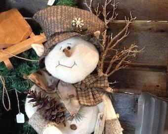 "Pattern: Snocone - 22"" Snowman Elf"