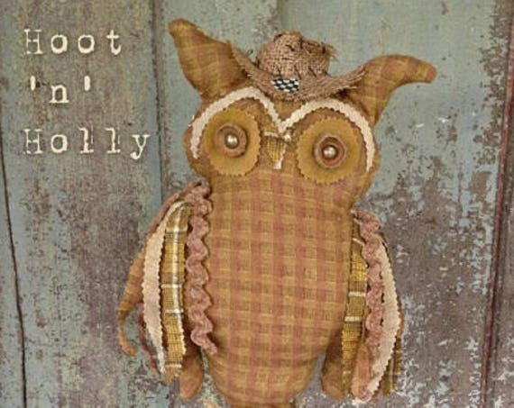 "Partial Doll Kit: ""Hoot 'n' Holly"" 22 inch Owl and Mouse for doll pattern by Sparkles n Spirit"