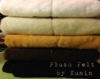 "Plush Felt - 1 Yard of Plush Felt by ""Kunin"" for Sparkles N Spirit Dolls"