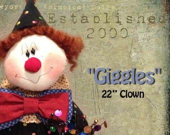 """Doll KIT: Giggles - 22"""" Clown"""