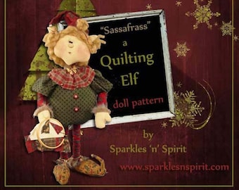 "Doll Kit: Xmas Sassafrass - 18"" Christmas Quilting Elf"