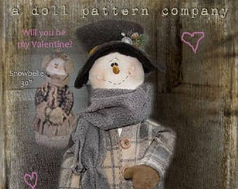 "Doll Kit SET/2 : ""Snowbelle & Snowbeau""  for doll patterns by Sparkles n Spirit"