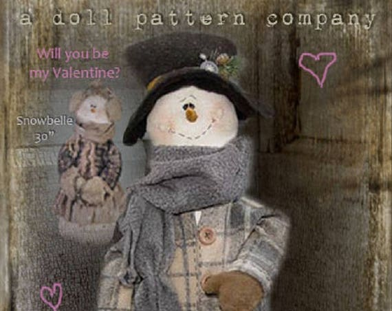 "Doll Kit SET/2 : ""Snowbelle & Snowbeau""  for doll patterns by Sparkles n Spirit"