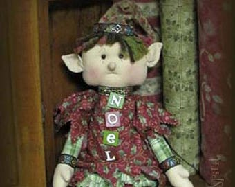 "Doll Kit: ""NOEL"" - 18""  Xmas Raggedy Elf"