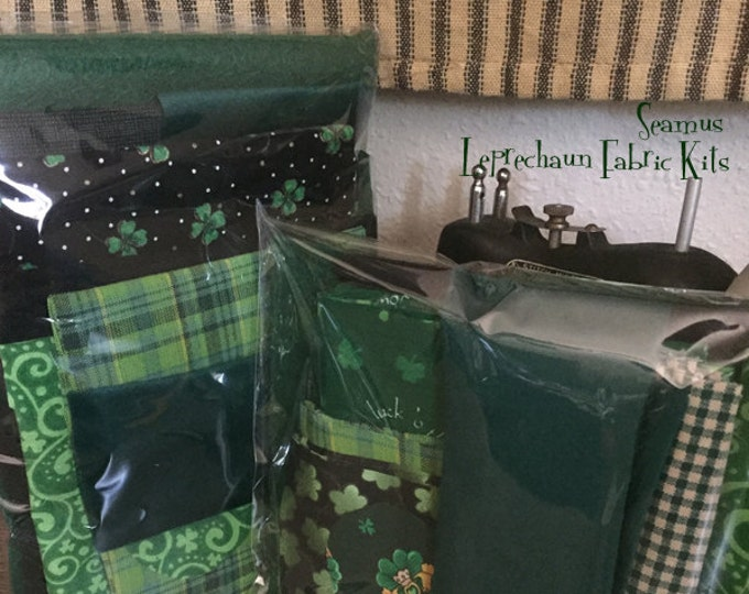 """Featured listing image: Hat, Gloves & Shoes: Fabric Kit - """"Seamus"""" - Leprechaun doll pattern by Sparkles n Spirit"""