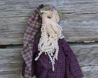 """Pattern: Santa - 18"""" Primitive Rag Doll"""