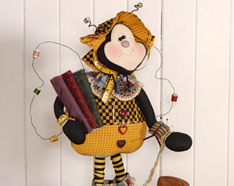 "Doll KIT: Beeatrice - 19"" Quilting bumble bee Doll - Full Kit of supplies"