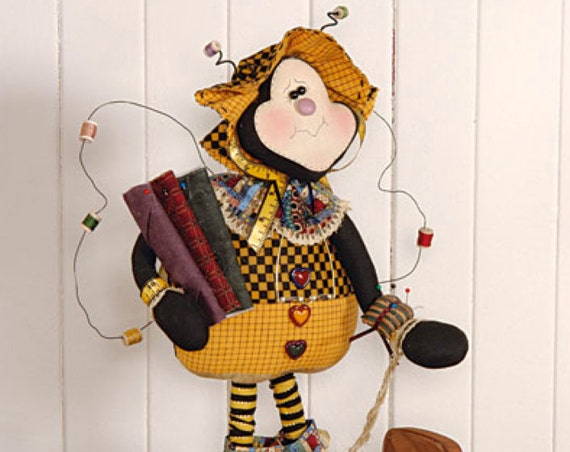 """Doll KIT: Beeatrice - 19"""" Quilting bumble bee Doll - Full Kit of supplies"""