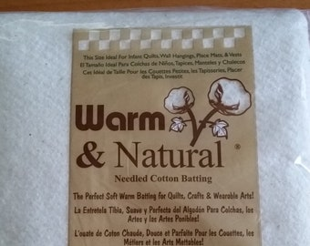 Warm & Natural Cotton Batting - Craft Size