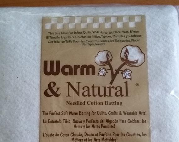 Warm & Natural Cotton Batting - Craft Size