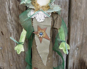"Pattern: Fiona Frog -  17"" Lady Frog Doll -"