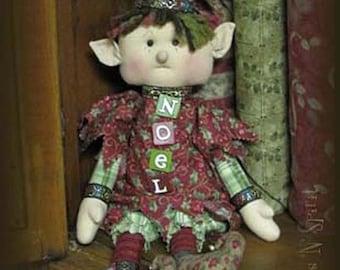 "Pattern: Noel - 18"" Xmas Raggedy Elf"