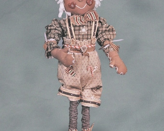"Pattern: Geoffrey - 20"" Gingerbread Boy"