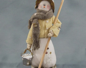 "Pattern: Moppin Up - 26"" Snowman"
