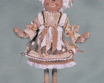 "Pattern: Gretchen - 20"" Gingerbread Girl"