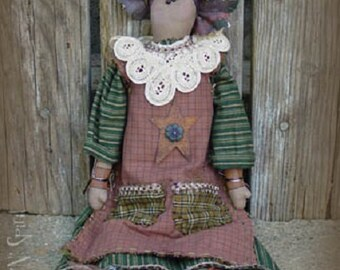 "Pattern: Winona - 18"" Flower Prim Rag Doll"