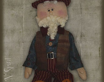 "Pattern: Sam - 23"" Raggedy Uncle Sam Doll"