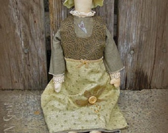 "Pattern: Olive - 18"" Flower Prim Rag Doll"