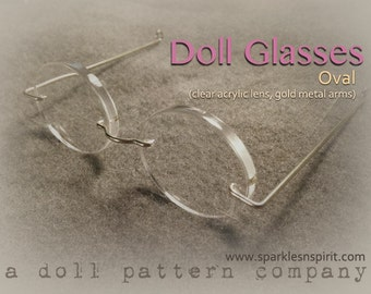 Doll Glasses - Oval