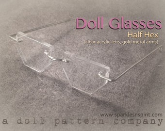 Doll Glasses - Half Hexagon