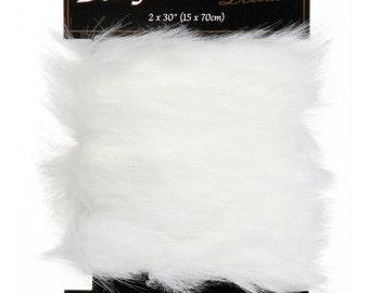 "White Faux Fur 2"" Trim for Sparkles N Spirit Dolls"