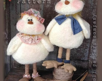 "Doll KIT: Twiddle n Tweet - 17"" Baby Chick Dolls Pattern by Sparkles N Spirit"