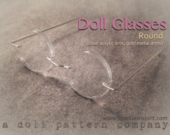 Doll Glasses - Round