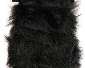 "Black Faux Fur 2"" Trim for Sparkles N Spirit Dolls"