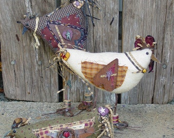 "Pattern - Crazee Chickens: 4""-10"" Primitive Chickens"