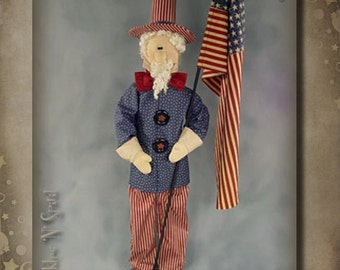 "Pattern: Uncle Sam - 48"" tall"