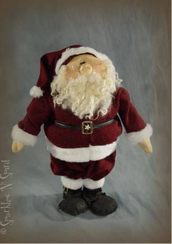 """Doll Kits: """"Sophie & Pappa Claus"""" SET  for doll patterns by Sparkles n Spirit"""