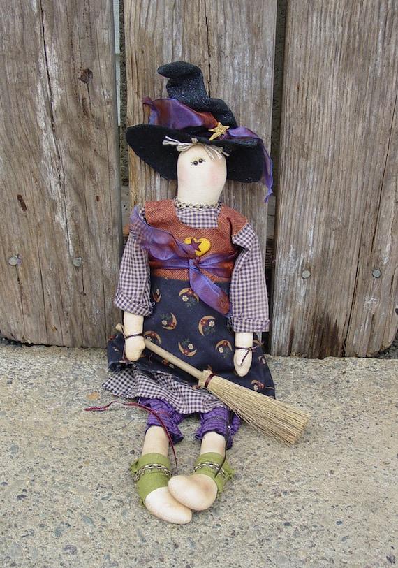 "Pattern: Georgia - 18"" Witch Rag Doll"