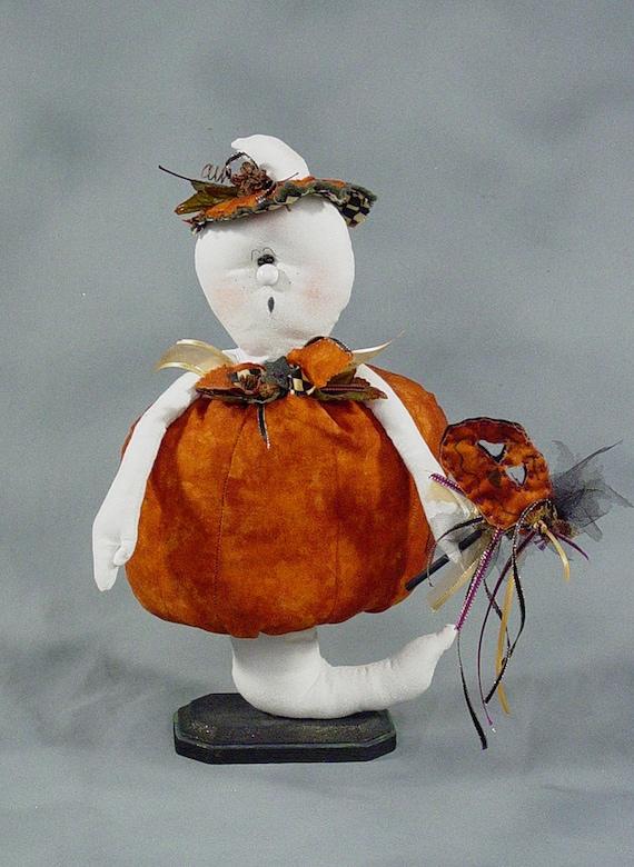 "Pattern: Lawrence - 13"" Ghost Dressed as a Pumpkin"