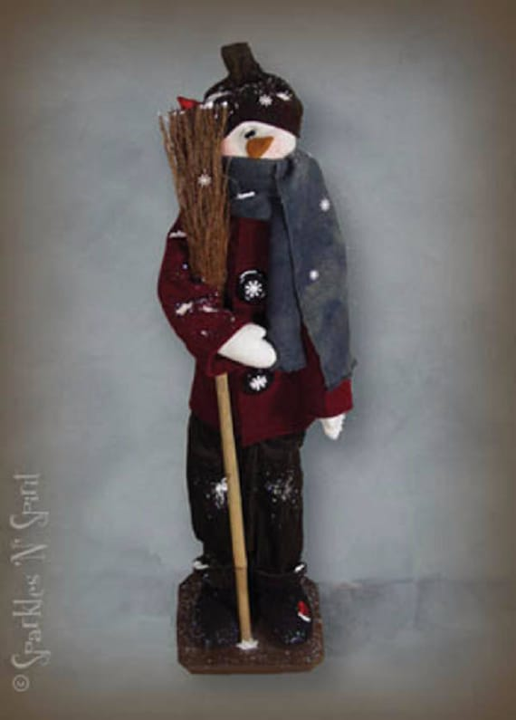 """Doll Kit: """"Clyde"""" - 36"""" Snowman -  for doll patterns by Sparkles n Spirit"""