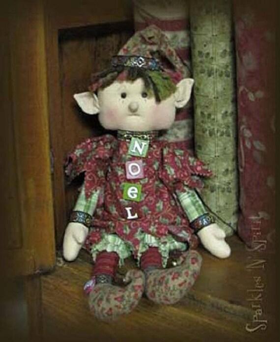 "Doll Kit: ""NOEL"" - 18""  Xmas Raggedy Elf"