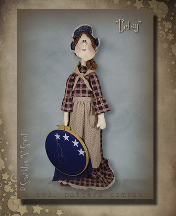 "Pattern: Betsy - 36"" Standing Americana Lady - Betsy Ross"