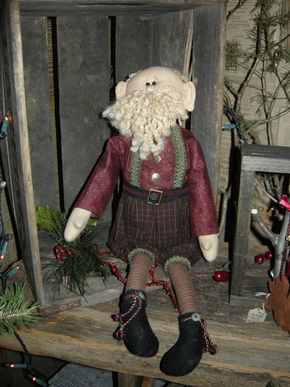"Pattern: Nicholas - 22"" Santa Rag Doll"