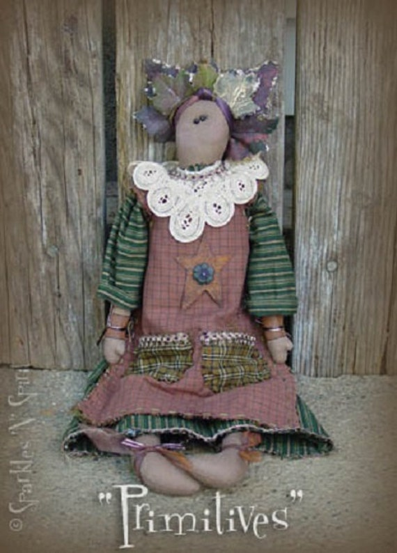 "Pattern: Winona - 18"" Flower Prim Rag Doll"
