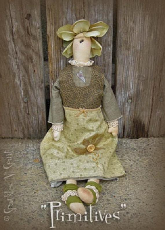 "Pattern: Olive - 18"" Flower Prim Rag Doll"