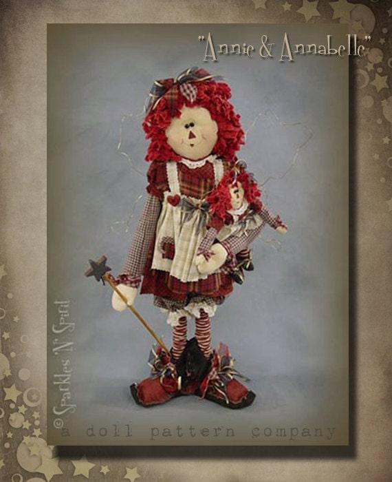 """Pattern: Annie and Annabelle -22"""" Raggedy Annie Fairy"""