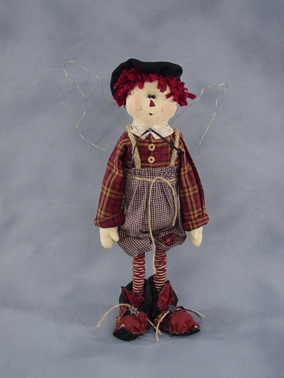 "Pattern: Andee - 22"" Raggedy Fairy"