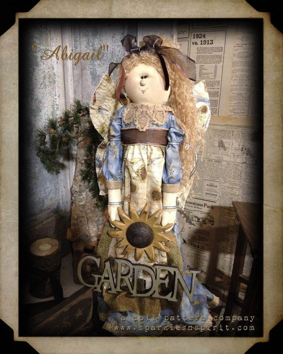 "Pattern: Abigail - 20"" Garden Angel"
