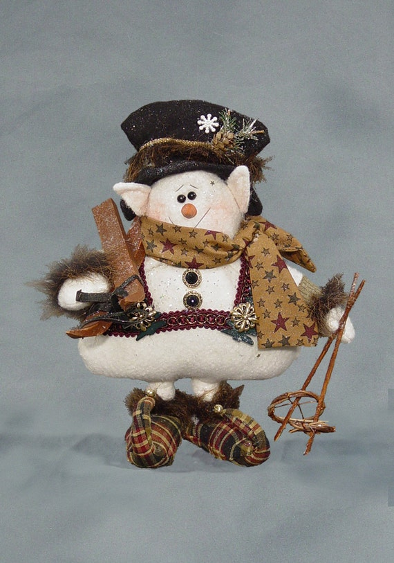 """Pattern: Sir Willabe Snelf - 12"""" Snowman Elf"""