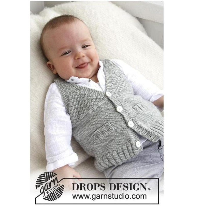 57f3bb09d Knit Baby vest V neck Handknit vest for babies