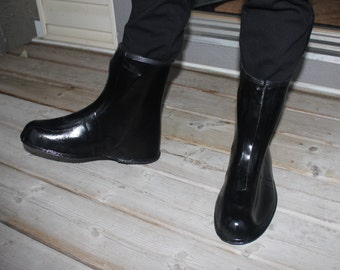 Vintage Galoshes Over Boots Metal Clasps Latches Rain Etsy