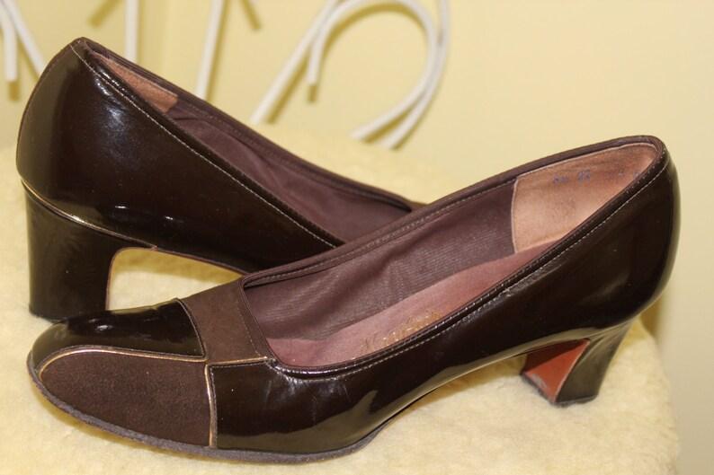 f8ce3379e28c3 1960s 70s Size 8 1/2 Mid Century Mod Retro Vintage Brown Two | Etsy