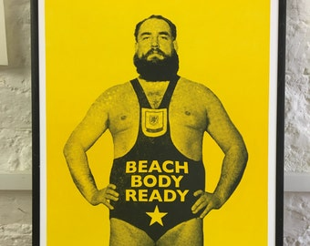 Beach Body Ready - letterpress poster