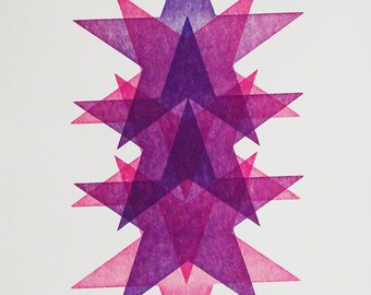 Letterpress poster - Star Portrait No1
